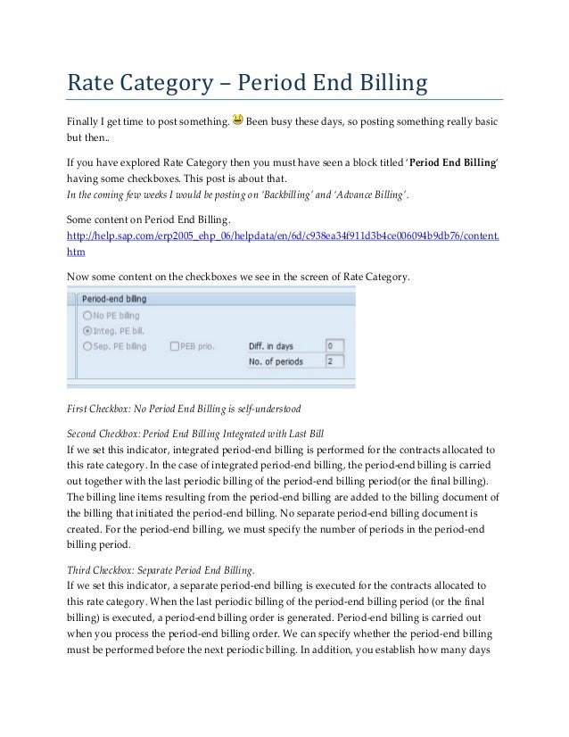 Rate	Category	–	Period	End	Billing	Finally I get time to post something.      Been busy these days, so posting something r...