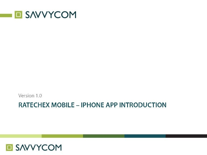 Ratechex mobile - iPhone App Introduction