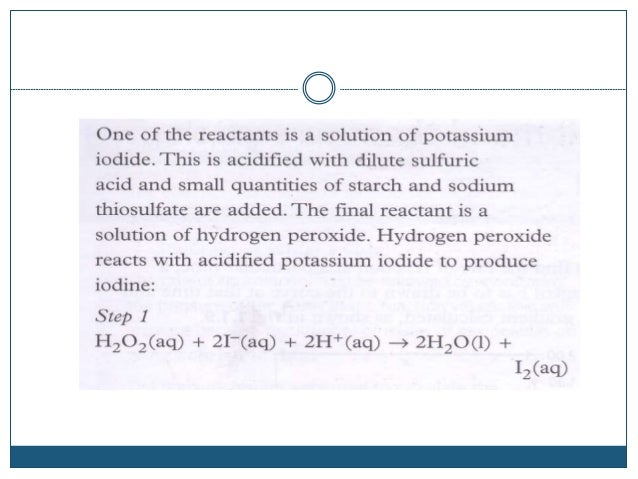 Bromate(v) and bromide reaction