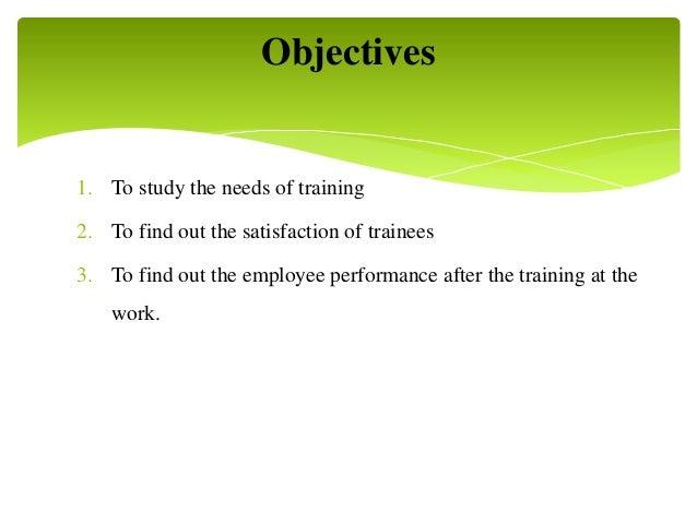 Effectiveness on training and development