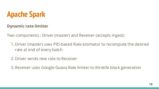 Rate limiters in big data systems