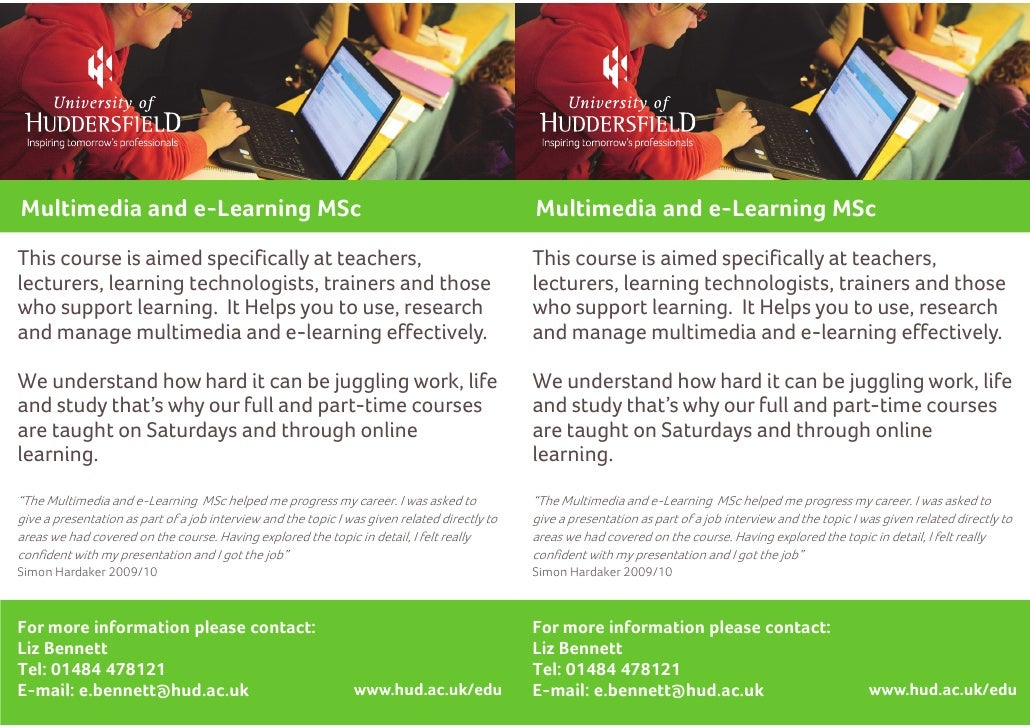 Multimedia and e-Learning MSc                                                                  Multimedia and e-Learning M...