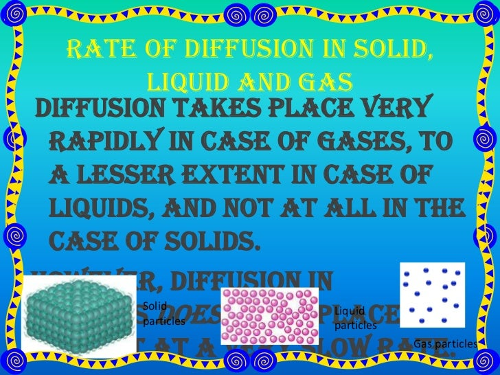the rate of diffusion essay Agar gel lab report  it might have been helpful to calculate the rate of diffusion in all the cubes for comparison  this essay has been marked by a teacher.