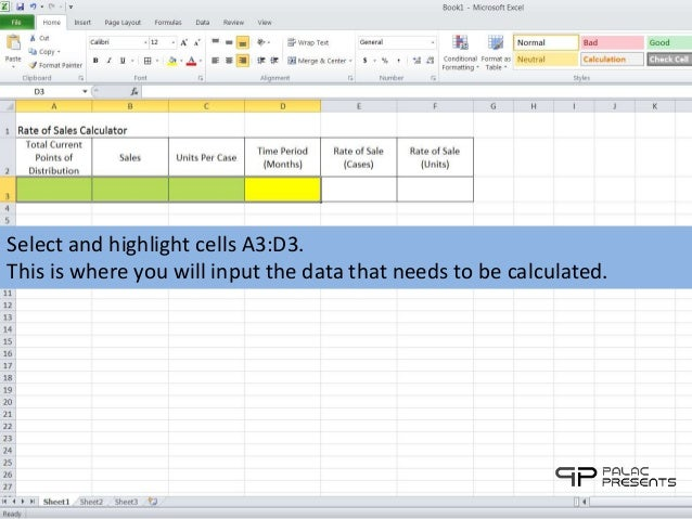 rate of sales calculator for microsoft excel