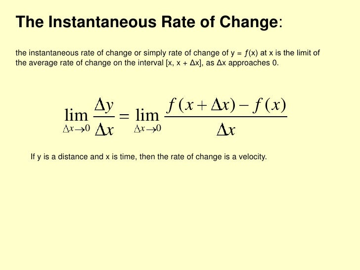 average rate of change vs instantaneous rate of change the engage wiki