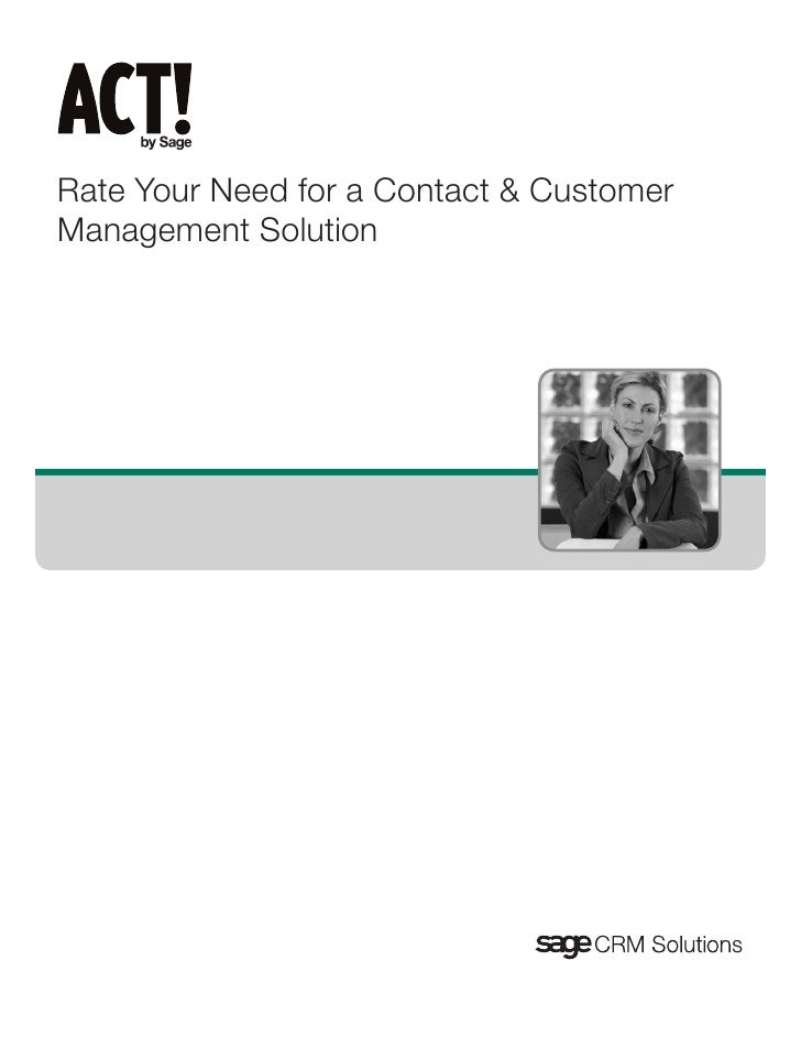 Rate Your Need for a Contact & Customer Management Solution