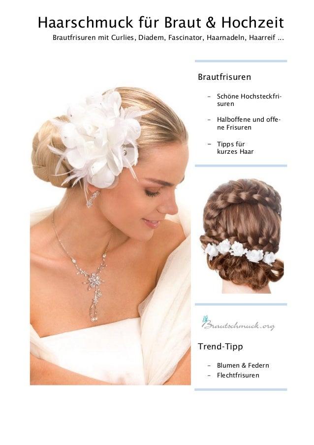Haarschmuck für Braut & Hochzeit Brautfrisuren mit Curlies, Diadem, Fascinator, Haarnadeln, Haarreif ... Brautfrisuren - S...
