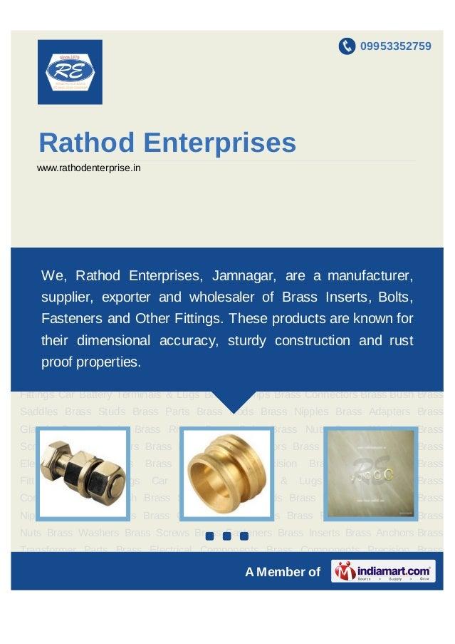 09953352759    Rathod Enterprises    www.rathodenterprise.inBrass Bolts Brass Nuts Brass Washers Brass Screws Brass Fasten...