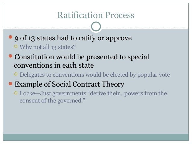 Ratification of the Co...