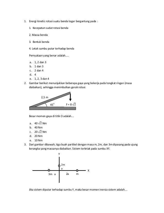 Soal Kinematika Rotasi Dan Pembahasan 1
