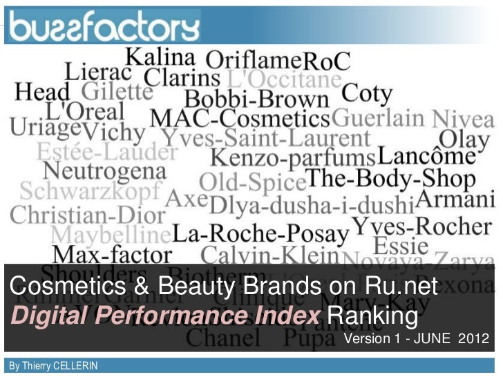 Cosmetics & Beauty Brands on Ru.netDigital Performance Index Ranking                                                      ...