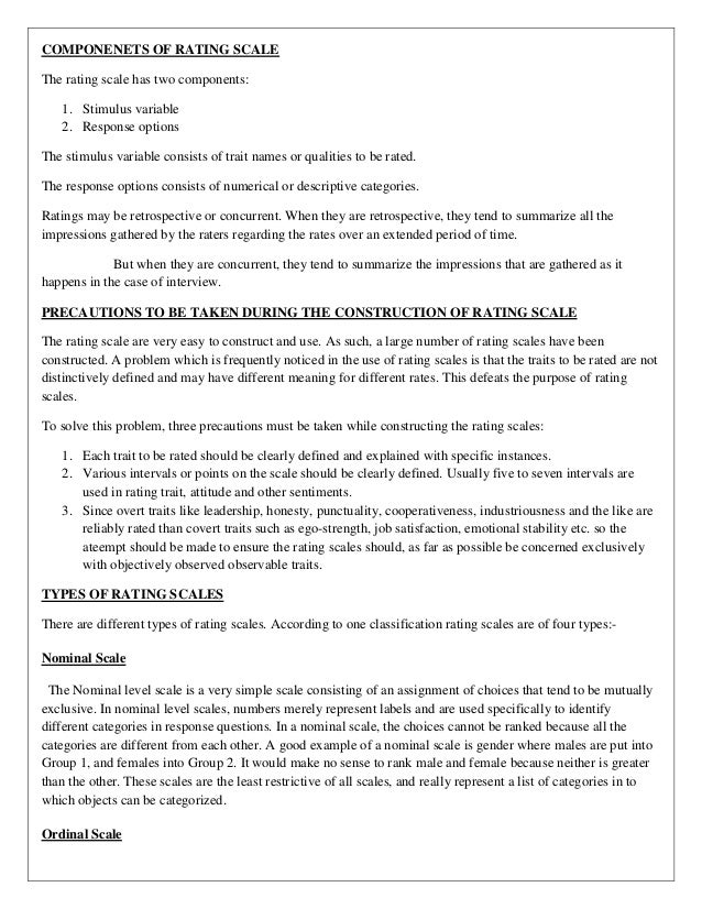 rating scales The severity rating scales support consistency in determining service delivery times for students who are blind or visually impaired use the scales to establish how often a particular service should be delivered to a student.