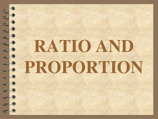 RATIO ANDPROPORTION