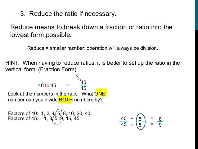 how do you write a ratio as a fraction in lowest terms yes