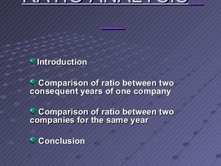 conclusion of ratio analysis