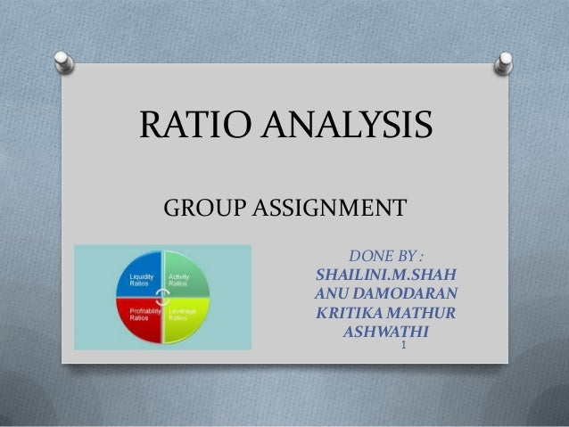 RATIO ANALYSIS GROUP ASSIGNMENT DONE BY : SHAILINI.M.SHAH ANU DAMODARAN KRITIKA MATHUR ASHWATHI 1