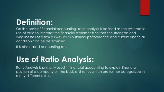 financial ratio definition Financial ratios for the commercial banking industry: do they measure what you think by brian b stanko, cpa loyola university thomas l zeller, cpa loyola university.