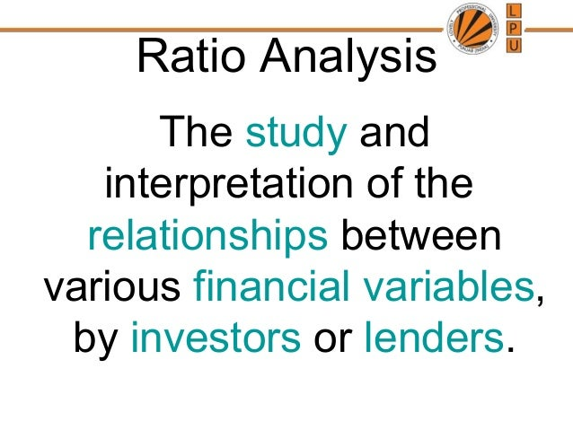 theory of ratio analysis and interpretation Spe 77569 analysis and interpretation of water-oil-ratio performance 3 several (potentially) limiting assumptions but the pseudo-steady-state relation does not require the same assumptions as.