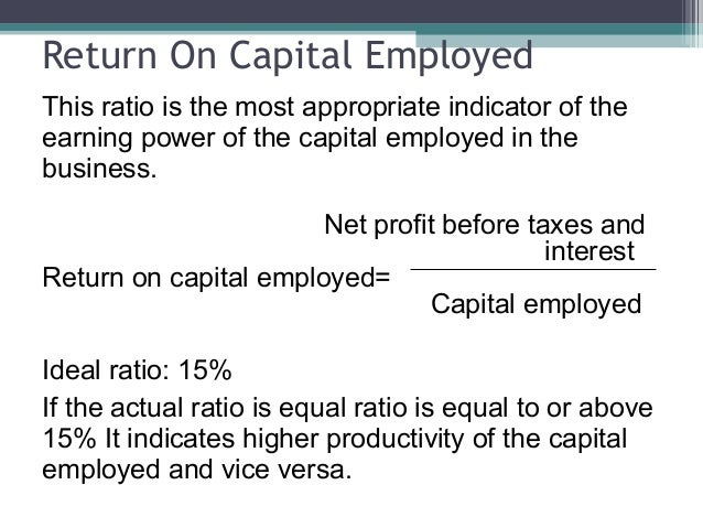 What is Return on Capital Employed?