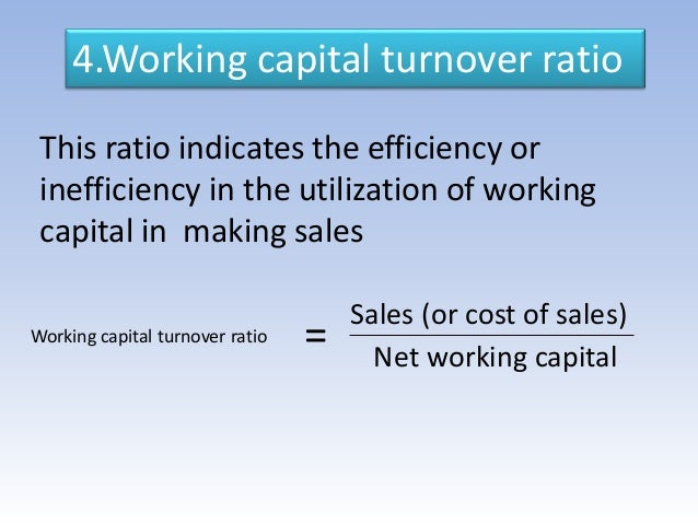 an analysis and comparison of the ratio and working capital The working capital ratio is the same as the current ratio it is the relative proportion of an entity's current assets to its current liabilities , and is intended to show the ability of a business to pay for its current liabilities with its current assets a working capital ratio of less than.