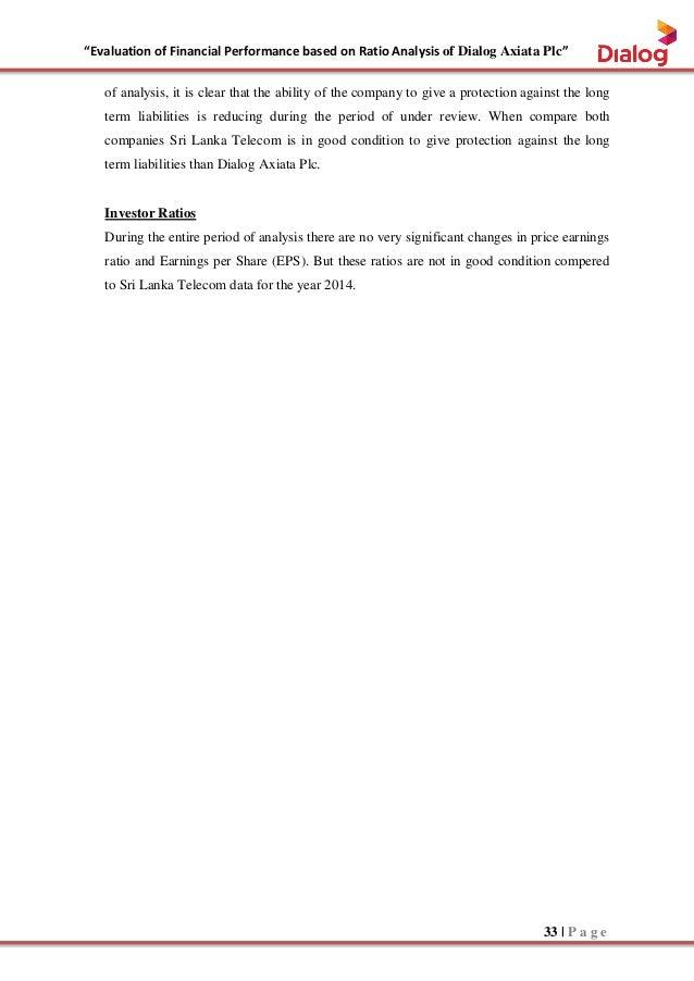 External analysis for dialog telekom sri
