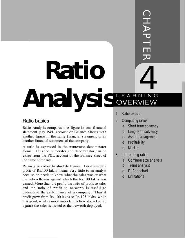 CHAPTER Ratio                                                                    4Analysis                                ...