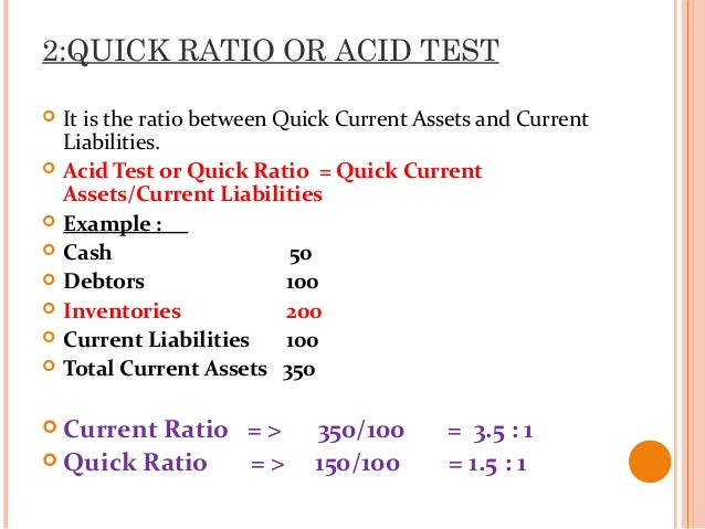 Ratio analysis1