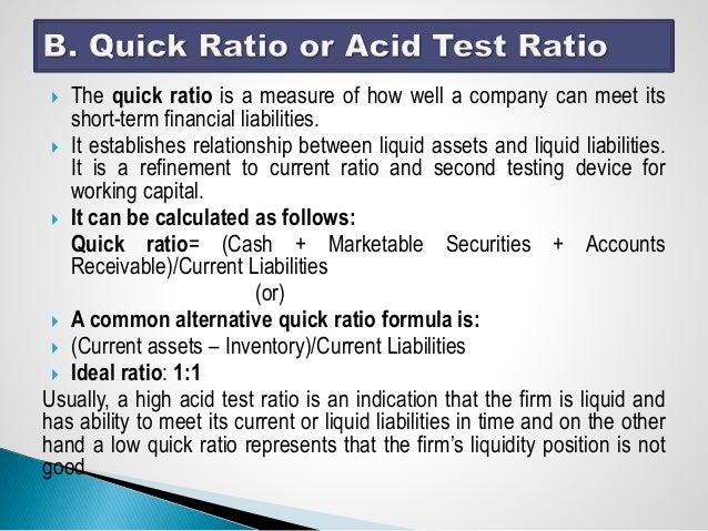 Quick ratio analysis   aimcfo.