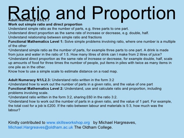 Ratio And Proportion Powerpoint