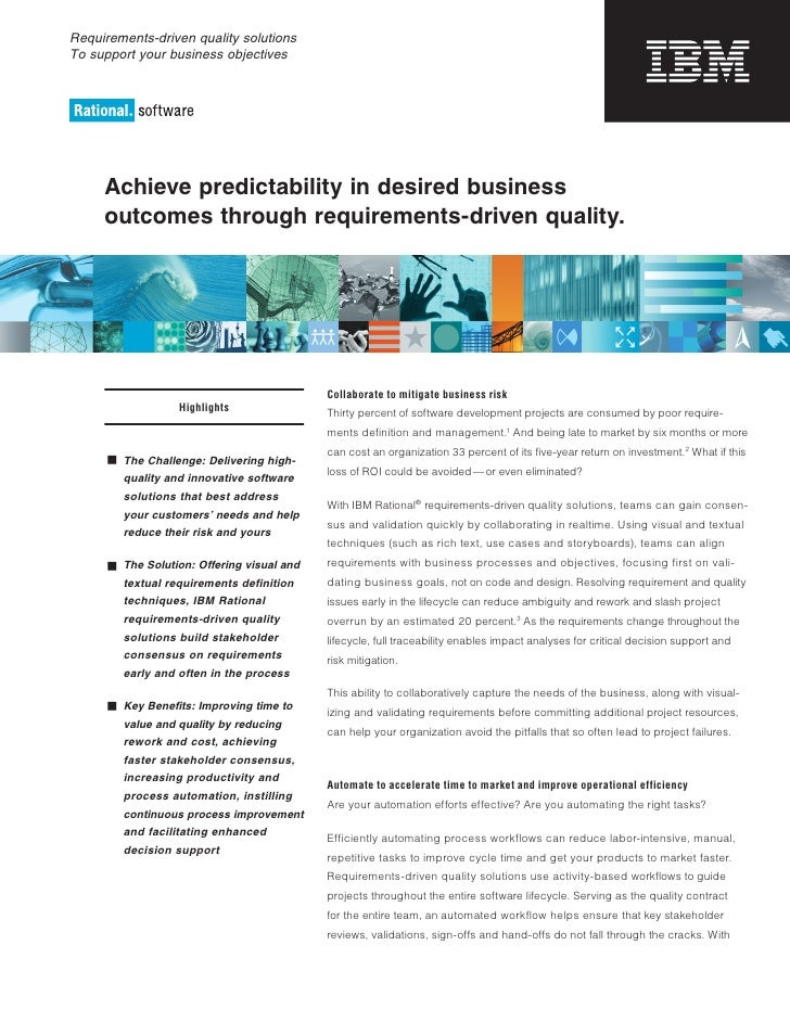 Requirements-driven quality solutions To support your business objectives          Achieve predictability in desired busin...