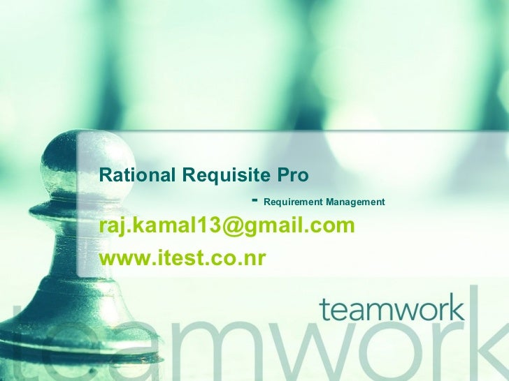 Rational Requisite Pro    -  Requirement Management [email_address] www.itest.co.nr