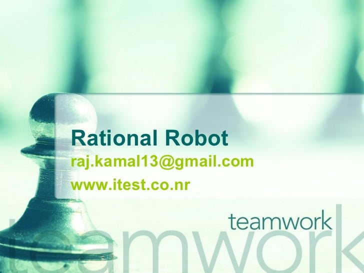 Rational Robot [email_address] www.itest.co.nr