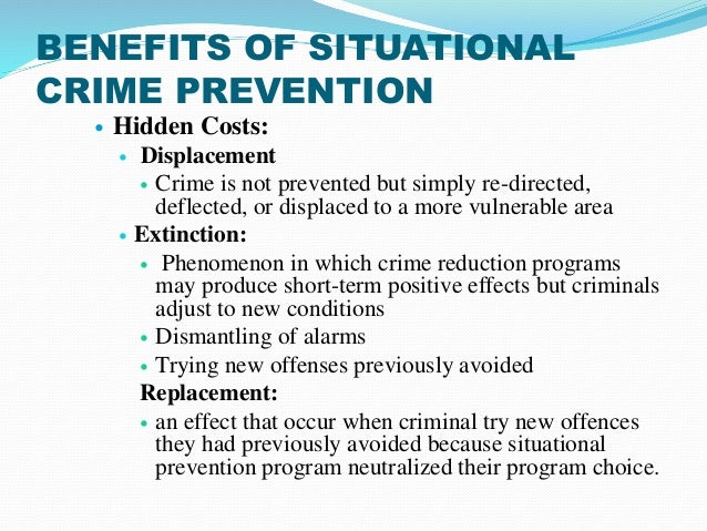 reducing crime through situational crime prevention Framework for understanding and designing effective crime reduction strategies  this chapter examines the contribution of the theory to success in applied.