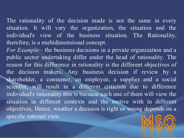 difference between rational and irrational decision making Educational administration quarterly vol 29 no 3 (august 1993) 392-411 decision making: rational, nonrational, and irrational herbert a simon.