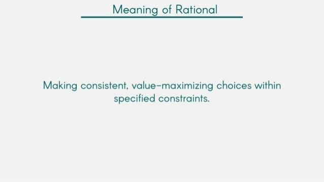 rational model of decision making pdf