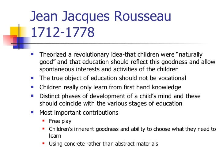 john locke vs rousseau education
