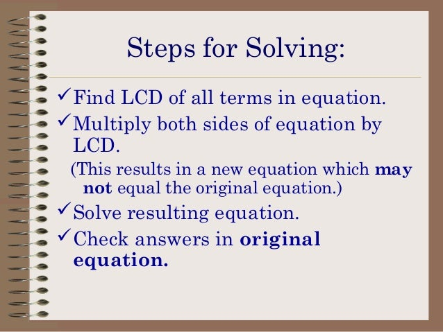 how to find the lcd in rational equations