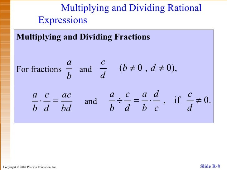 dividing rational expressions docx Dividing rational expressions – practice problems move your mouse over the  answer to reveal the answer or click on the complete solution link to reveal all .
