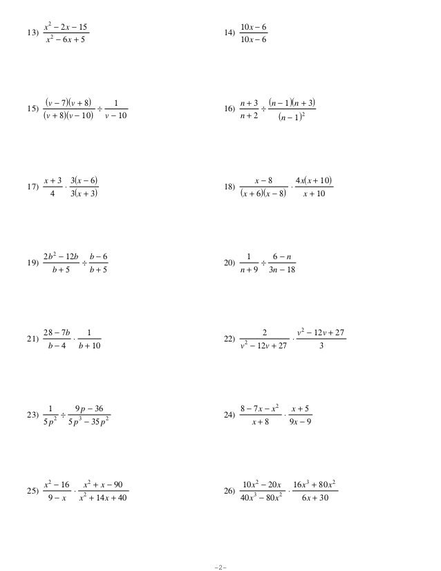 rational expressions worksheet homeschooldressagecom - Adding And Subtracting Rational Expressions Worksheet