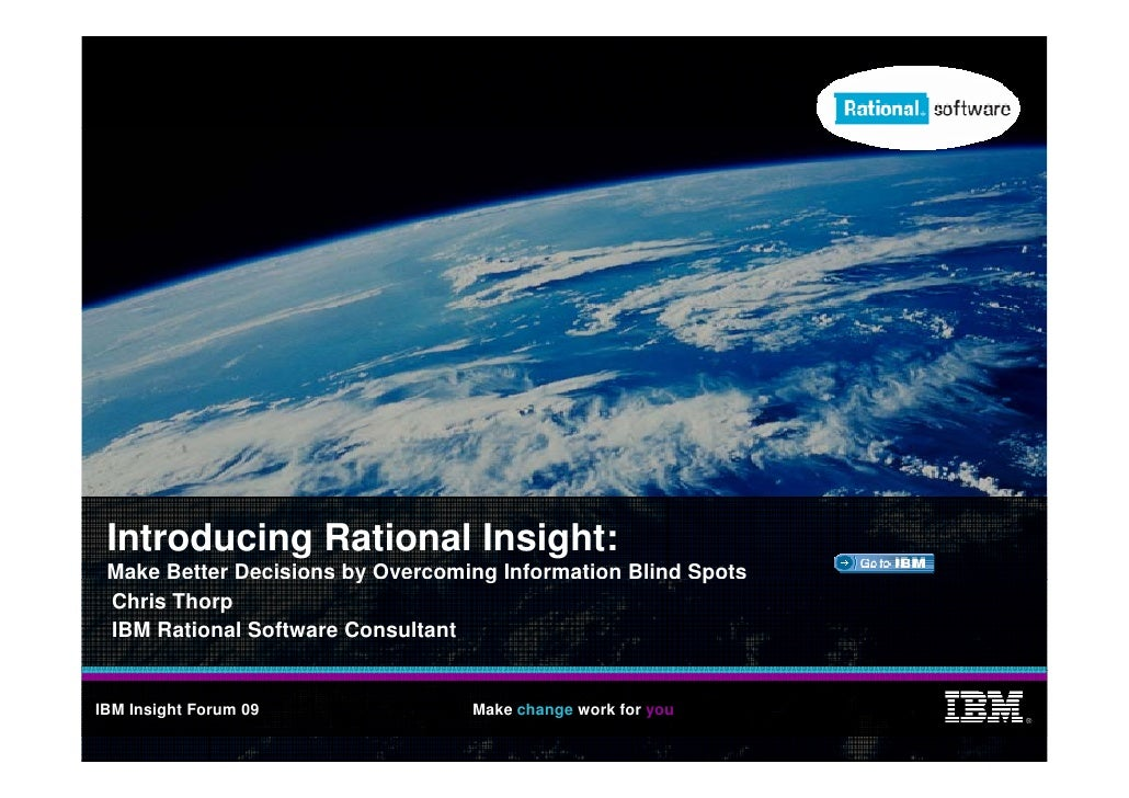 Introducing Rational Insight:  Make Better Decisions by Overcoming Information Blind Spots                         y      ...
