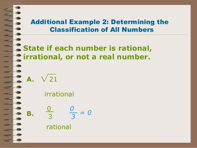 write a real number that is not rational