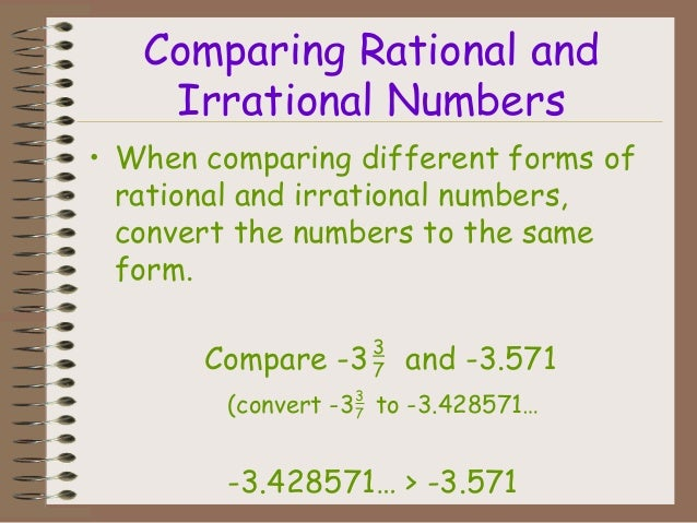 Rational Irrational And Real Number Practice