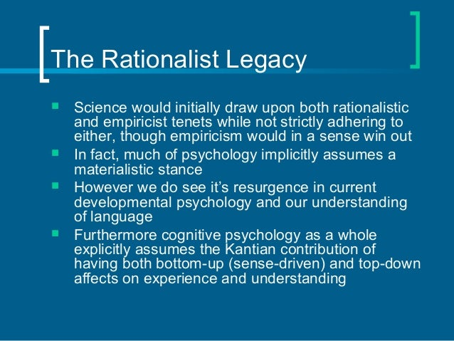 empiricism and rationalism Empiricism in xviii century europe was mainly represented by locke and hume and was a reaction against rationalism (descartes, etc) positivism was xix century : see comte and was mainly drived by the impressive development of exact sciences.