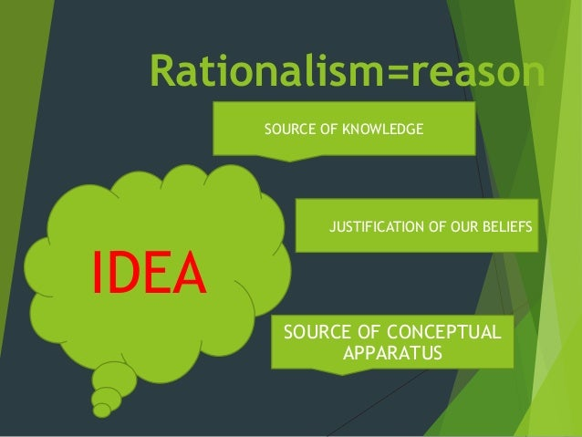rationalism empiricism and knowledge 'rationalism and empiricism' considers the different ways of thinking about nature that emerged in the early modern period, illustrated by rené descartes.
