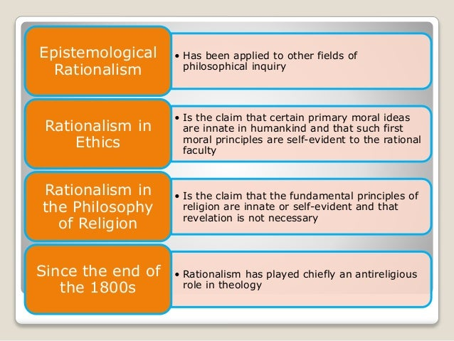 Rationalism essays