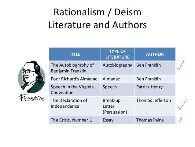 rationalism literature