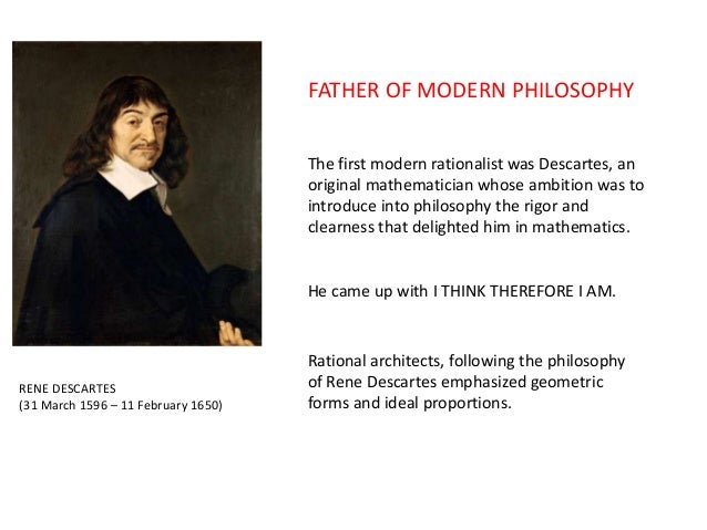 rene descartes and the formation of ones identity The main ideas that form the philosophy of rene descartes and  the philosophy of rené descartes  one pineal gland in reality, even descartes was .