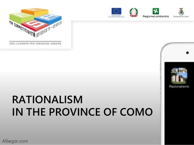 RATIONALISM IN THE PROVINCE OF COMO Albegor.com