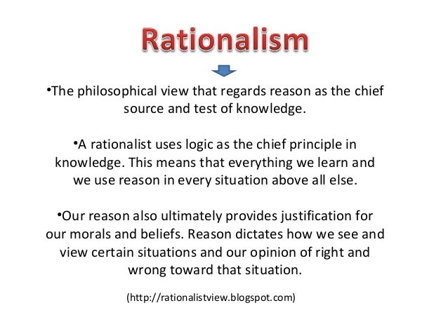 Rationalist View Of Human Nature