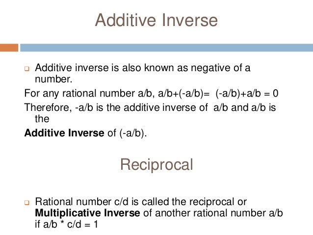 ativan additive inverse meaning